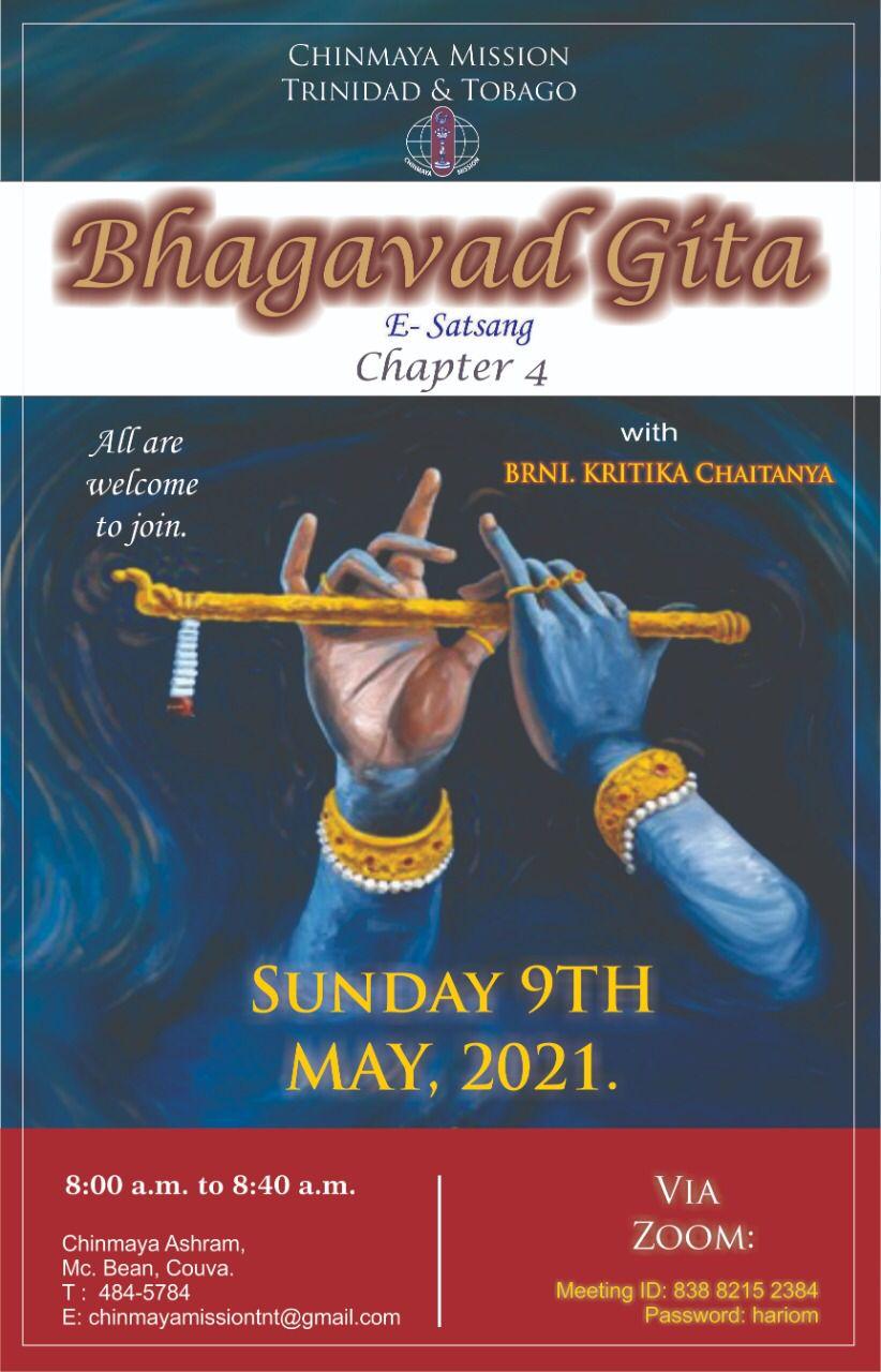Sunday Morning e-Satsang c- the study of Bhagavad Gita Chapter 4!