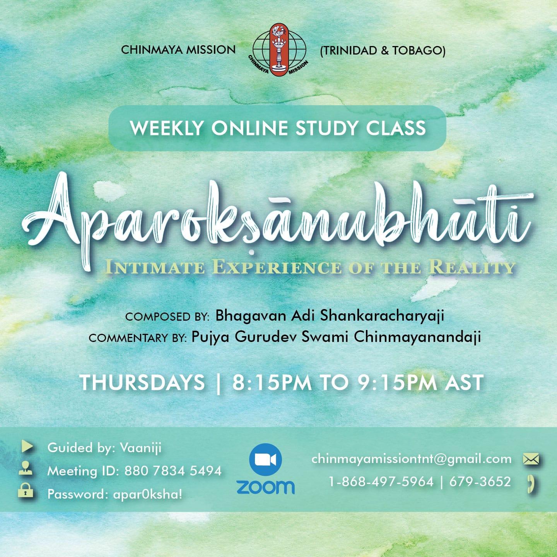 Aparokashanubhuti Study Class